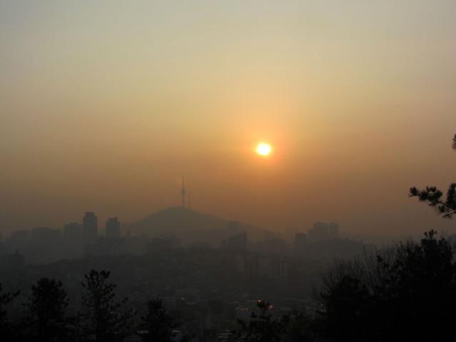 Sonnenaufgang Seoul