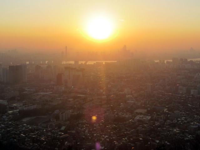 Sonnenuntergang Seoul