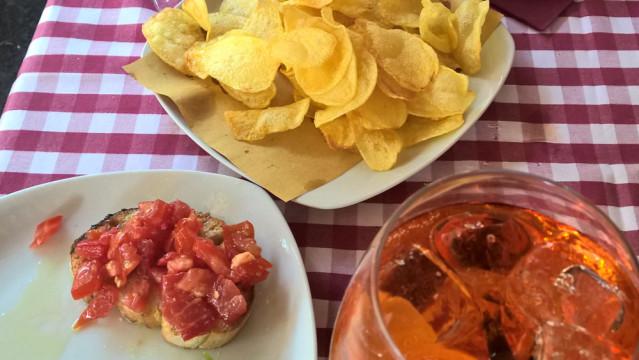 Rom Essen Chips, Bruschetta Aperol