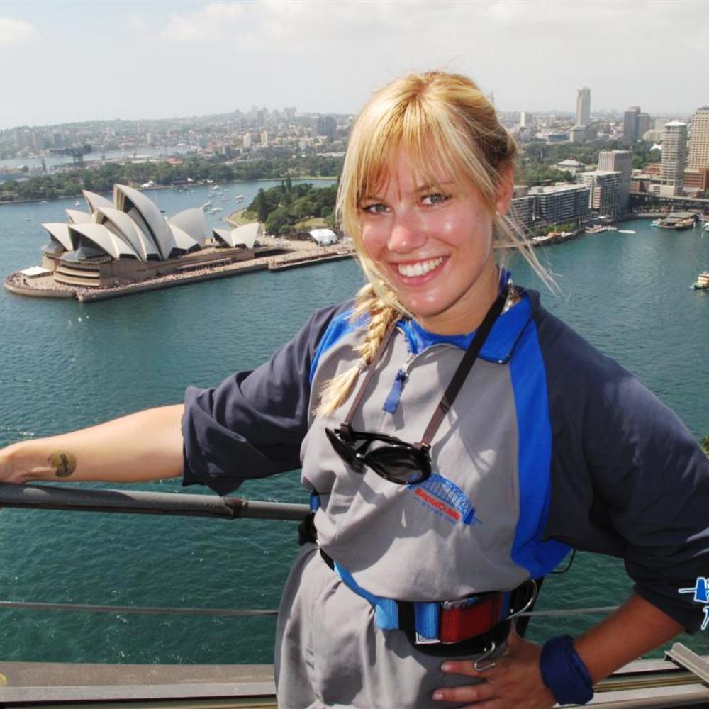 Im Vordergrund der berühmten Oper von Sydney