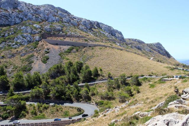 Kurven in den Straßen Mallorcas