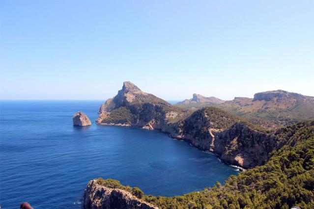 Die Aussicht vom Cap Formentor auf Mallorca