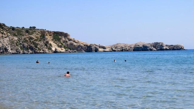 Meer Tsambika Bucht auf Rhodos