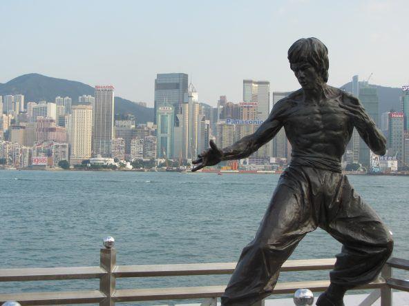 Bruce Lee Statue auf der Abenue of Stars