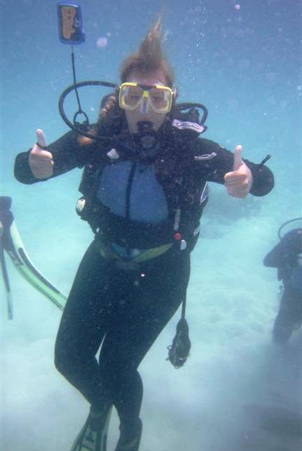 Taucherin Great Barrier Reef