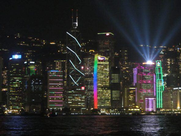Laser-Show an der Skyline
