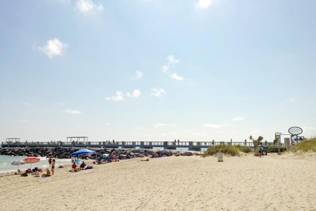 Gleich geschafft: Die Südspitze Miamis befindet sich im South Pointe Pier Park