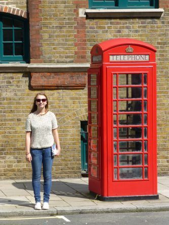 Eine typische Telefonzelle in England