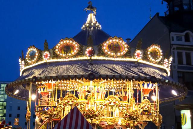 Norstalgisches Karusell Leipzig