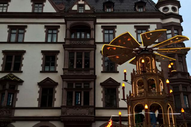 Feuerzangenbowle Pyramide Weihnachtsmarkt Leipzig