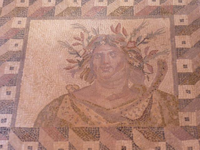 """Mosaik im """"Haus des Dyonysos"""""""