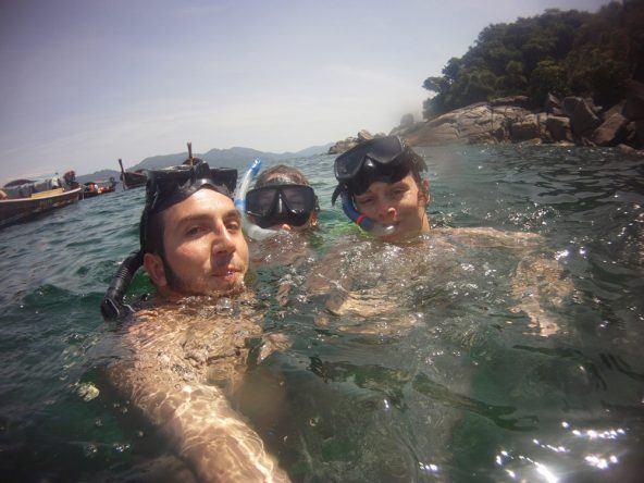 Selfie beim Schnorcheln in Thailand