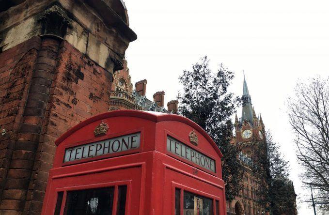 Typische Telefonzelle in London