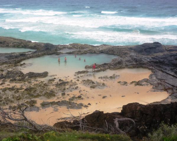 Meerwasserpool auf Fraser Island
