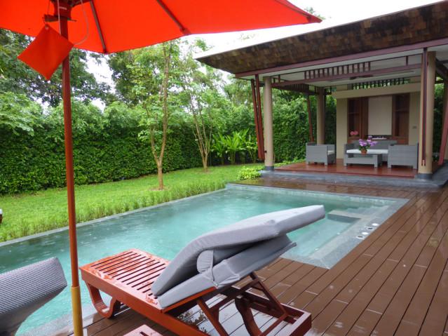 Spa Villa des Santiburi Beach Resorts, auch im Regen schön