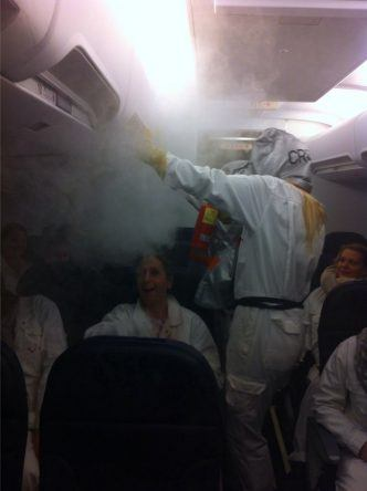 So, und jetzt nochmal das ganze im Flugzeug