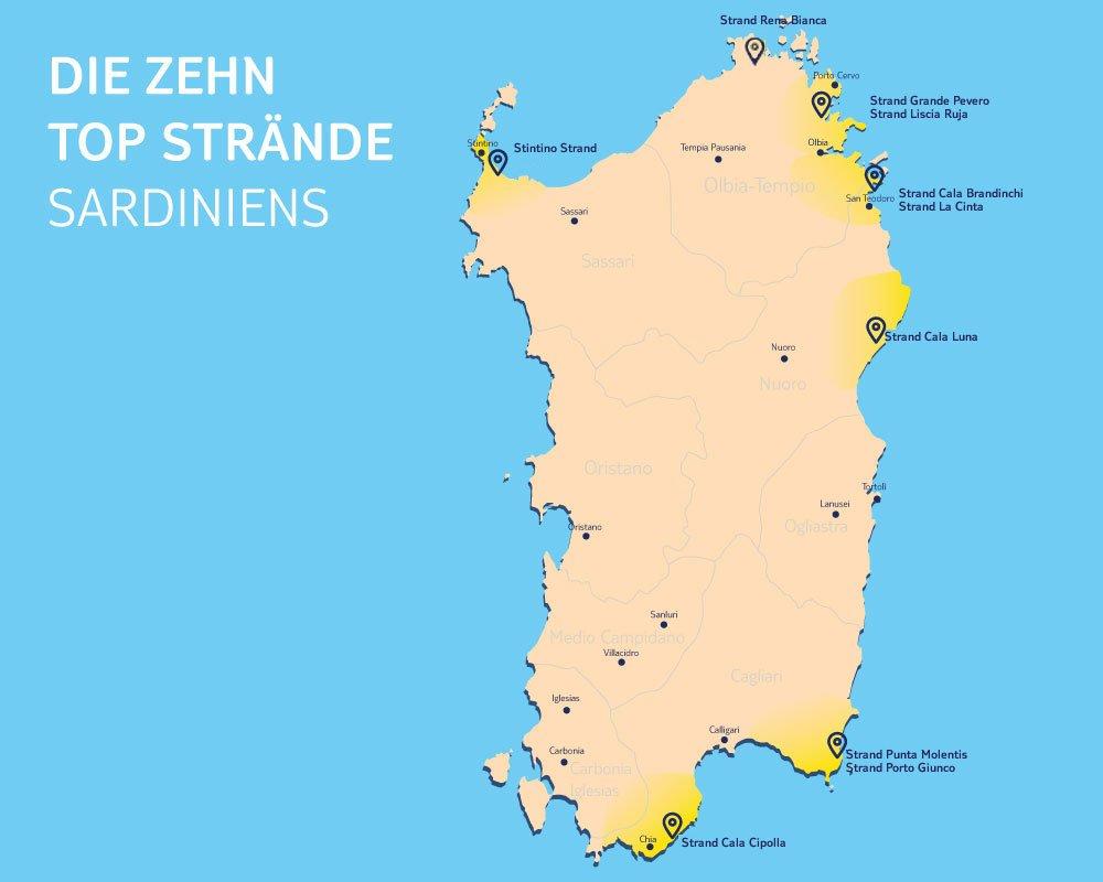 Karte Sardinien Strände.Die Top 10 Schönsten Sardinien Strände Tui Com Reiseblog