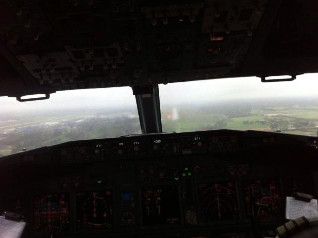 Ich fliege tatsächlich im Cockpit mit