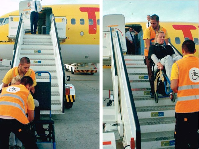 Rollstuhl Einstieg Flugzeug