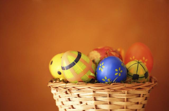 Gut gefüllt der Osterkorb