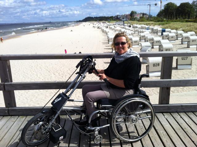 Rollstuhl Strand Urlaub
