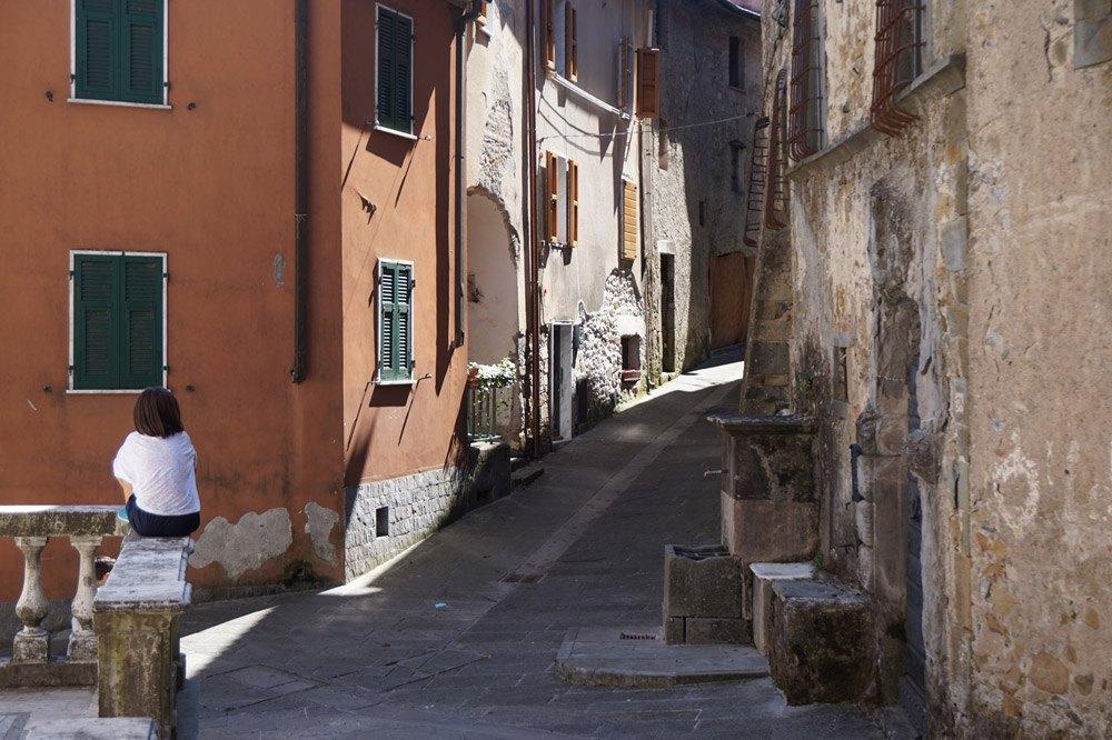 Das kleine Bergdorf San Terenzo Monti in der Toskana
