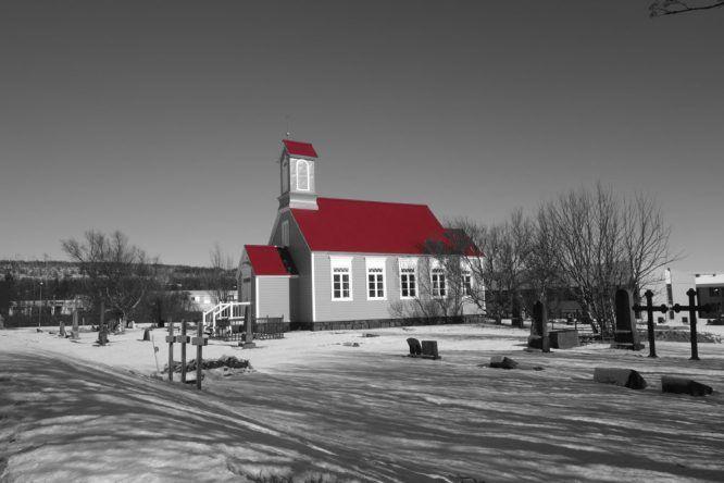 Typische Kirche (Reykholt)