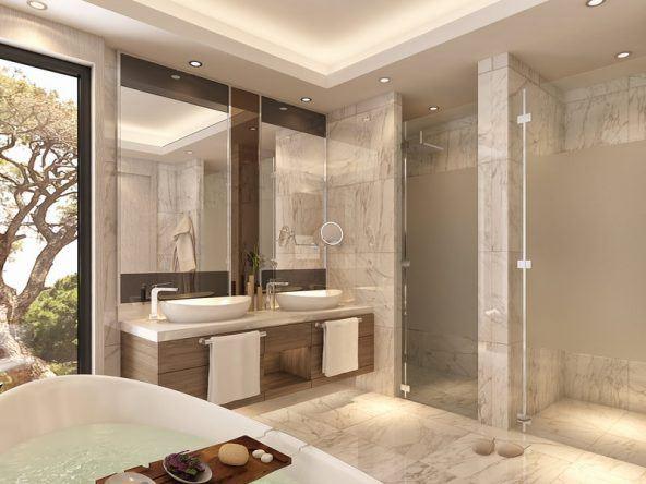 Eine Möglichkeit der Badezimmereinrichtung im Hotel Papillon Zeugma Belek