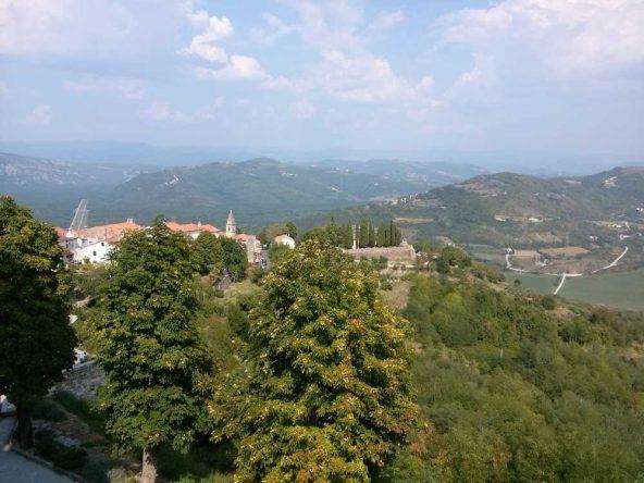 Wunderschöner Anblick die Natur von Istrien