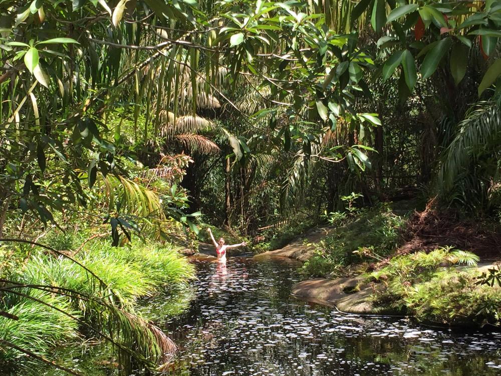 Zur Belohnung liegt kurz vor Ende des Tajor-Trails ein kleiner Wasserfall zum Erfrischen