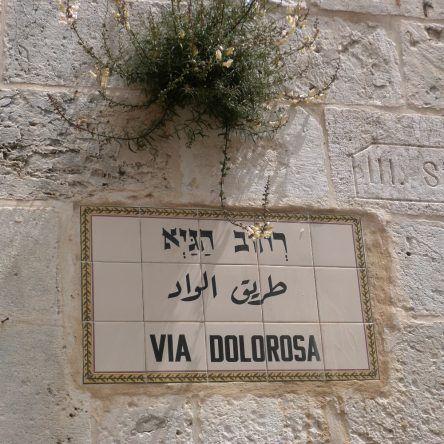 Die Via Dolorosa, der Leidensweg Jesus