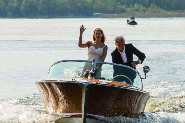 Die Dreharbeiten zum 360 Grad Film laufen auf Hochtouren: Am ersten Tag werden die Hochzeitsszenen abgedreht
