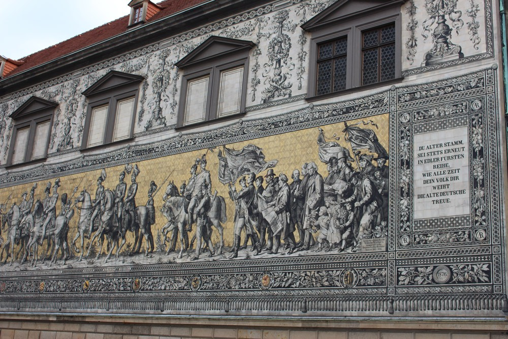 Bestens bekannt in Dresden: Der Fürstenzug