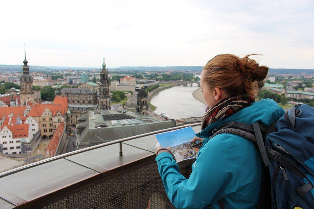 Spektakulärer Blick auf eine der schönsten Städte Deutschlands: Dresden