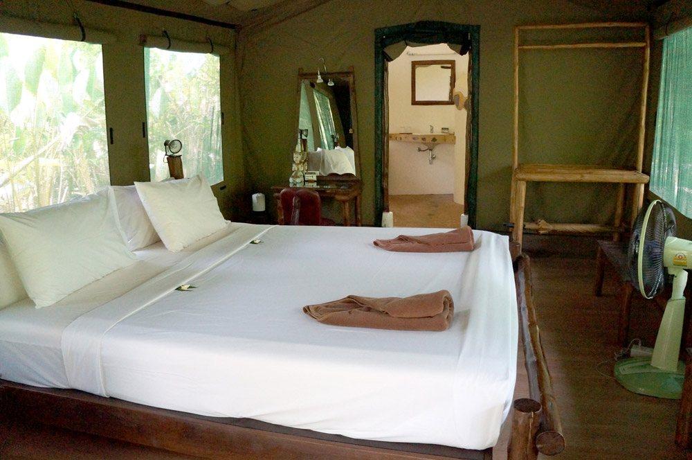 Luxus im Zelt bei dem Elephant Hills Camp