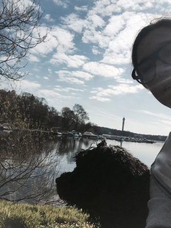 Ich mit meinem Hund Beatles