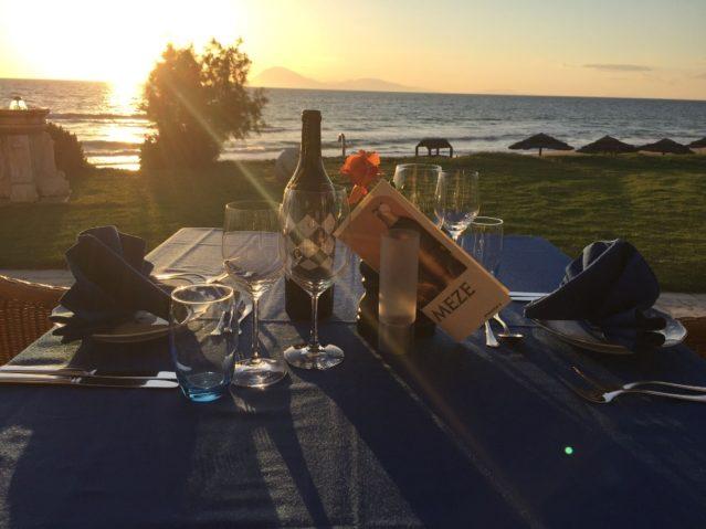 Restaurant-Terrasse im ROBINSON Club Kyllini Beach