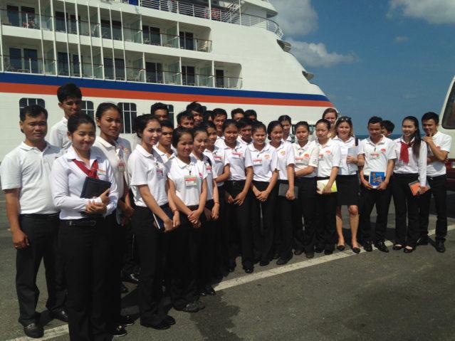 Ein tolles Erlebnis: Mit den Hotelschülern bei der MS Europa
