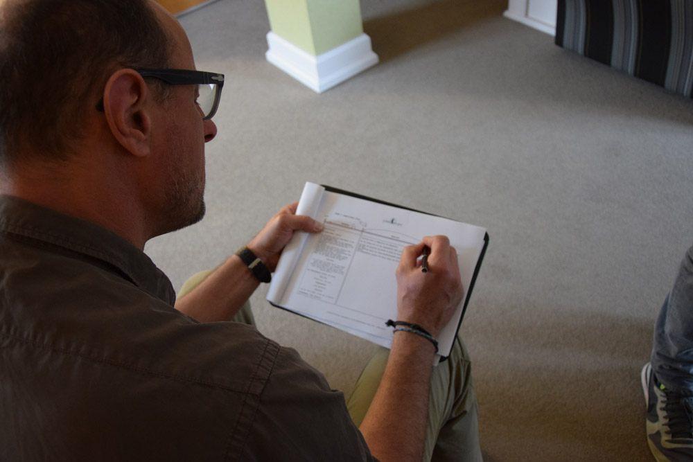 Andreas ändert noch etwas am Storyboard