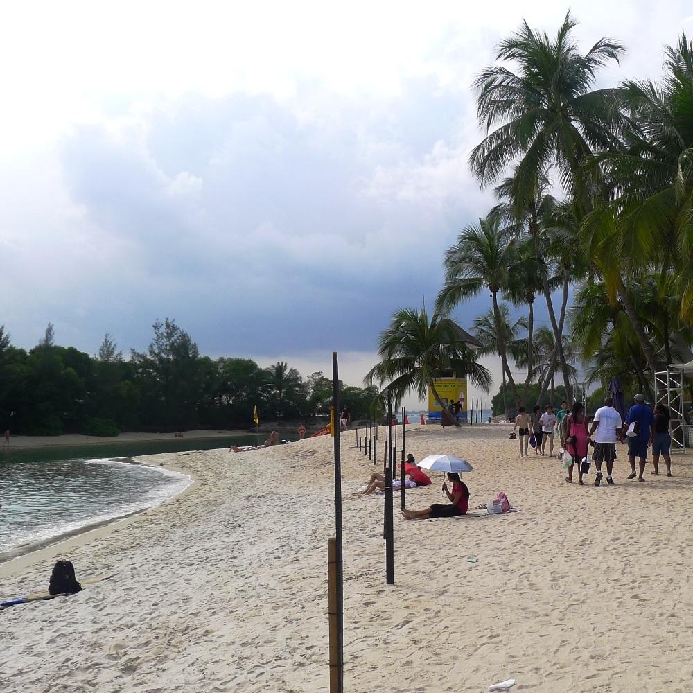 Strand von Sentosa Island