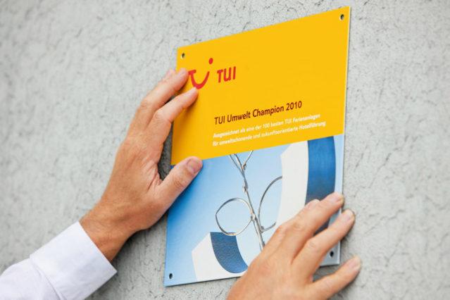 Das konzerneigene Nachhaltigkeitslabel: TUI Umwelt Champion