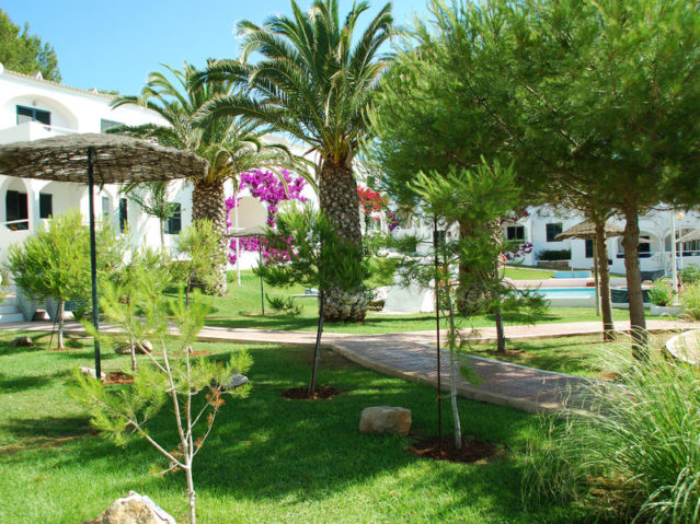 Die geplegte Anlage der Appartments Playa Parc