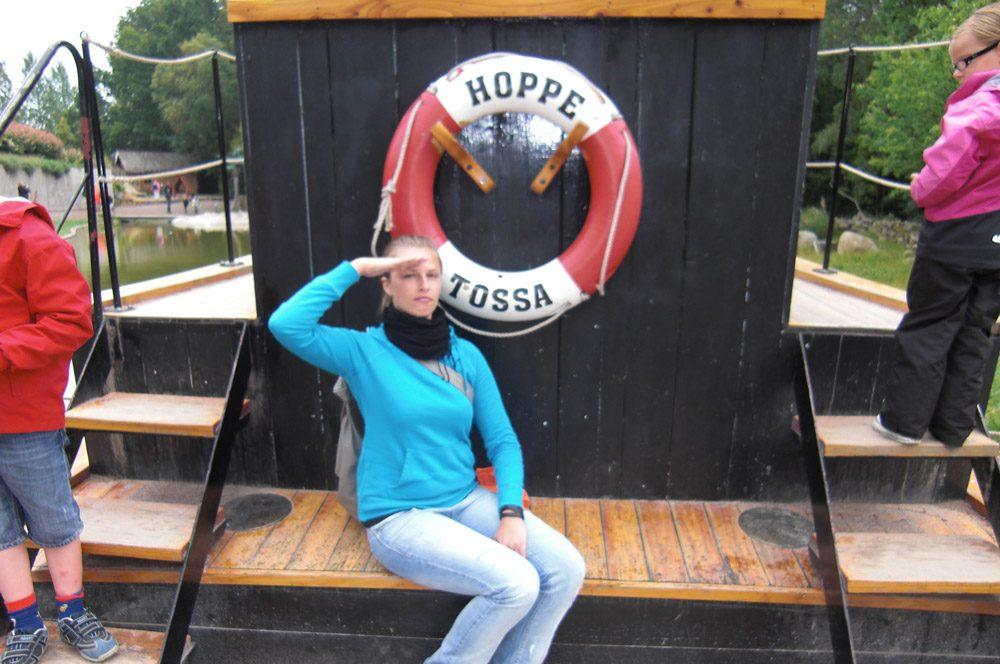 Meine Freundin an Bord der Hoppetosse