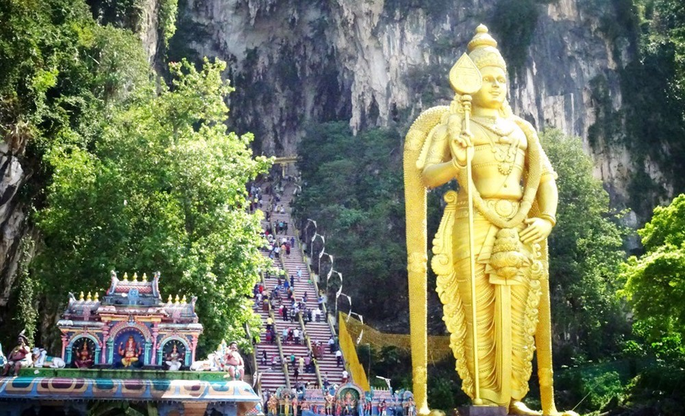 Batu Caves: Statue des Gottes Murugan
