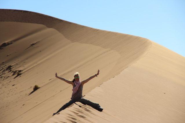 Sossusvlei Dünenspaß in der Namib Wüste