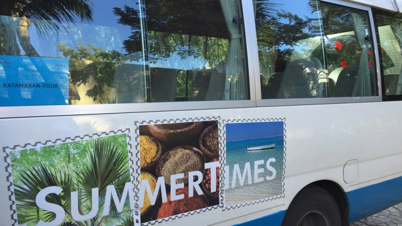 Unser Ausflugsbus versprüht Holiday Feeling XXL