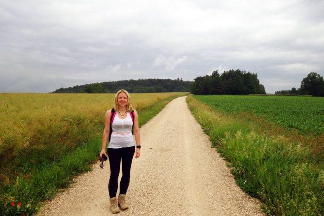 Nur noch 14 Kilometer (schon acht Kilometer geschafft, um den Lehrpfad zu erreichen)