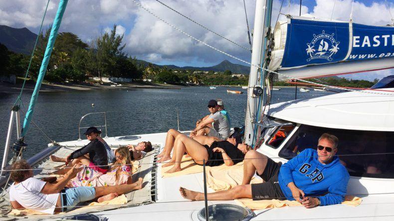 Katamaran-Ausflug auf dem Indischen Ozean