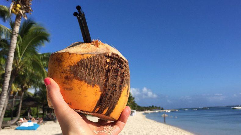 Coconut-Cheers Mauritius!