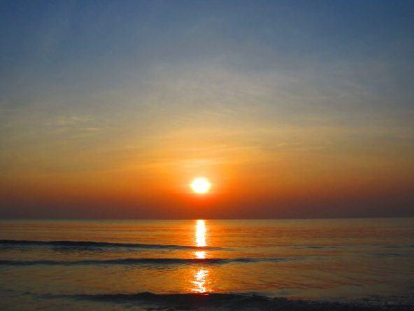 Sonnenuntergang am Sok San Beach